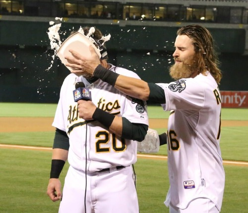 How sweet it is. Pie time for Josh Donaldson!