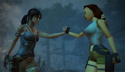 basedmanga:   Tomb Raider (2013) and Tomb Raider (1996).  look at this. technology is so amazin. we have eveolved from triangle titties to round titties. 2013 we did it
