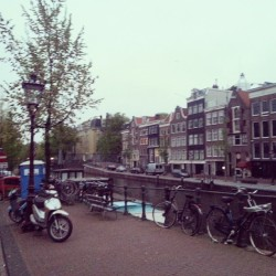 #Amsterdam 5:30am after graduation party.  Lovely city