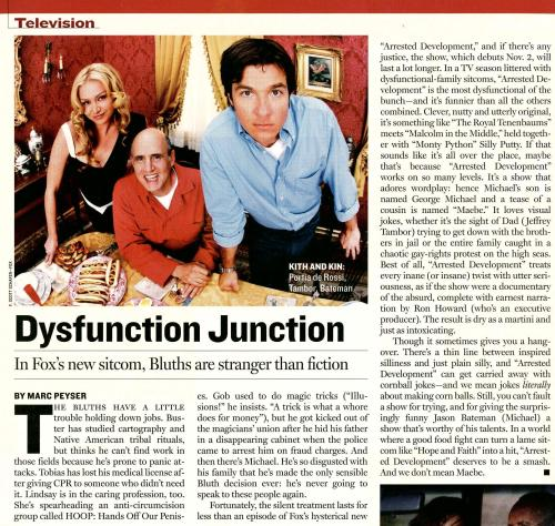 "Newsweek Reviews ""Arrested Development"", 2003"