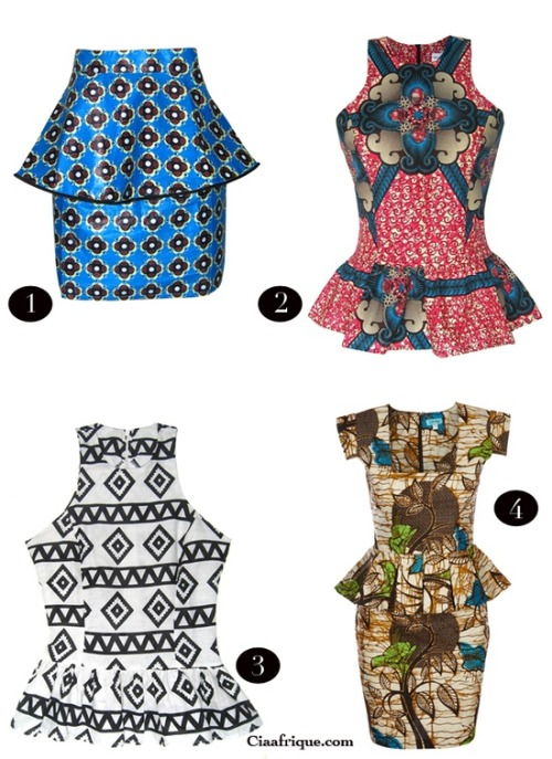 africanofashion:  ankara in different styles!