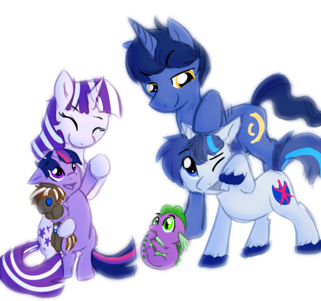 The Sparkle Family by *SpectrumPony