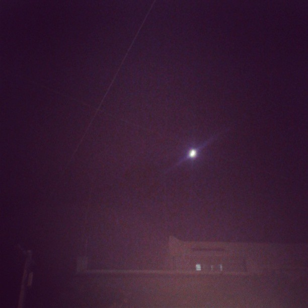 "in the street watchin' the moon :""33 #cold"