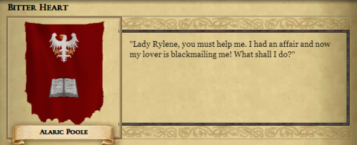Said my character's husband.