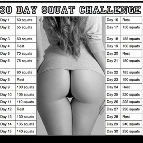 viiictorious:  Here we go again…. #30daysquatchallenge  Started today!