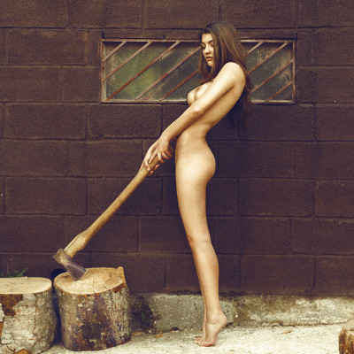 hotsabrinal:  Chopping wood.