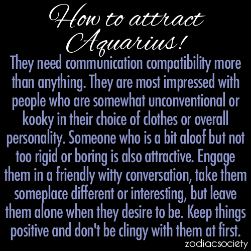 zodiacsociety:  How to attract Aquarius!