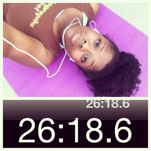 26 minute jog and ab work after. #feeltheburn #workout #getfit #stayfit www.kandeelovesya.com
