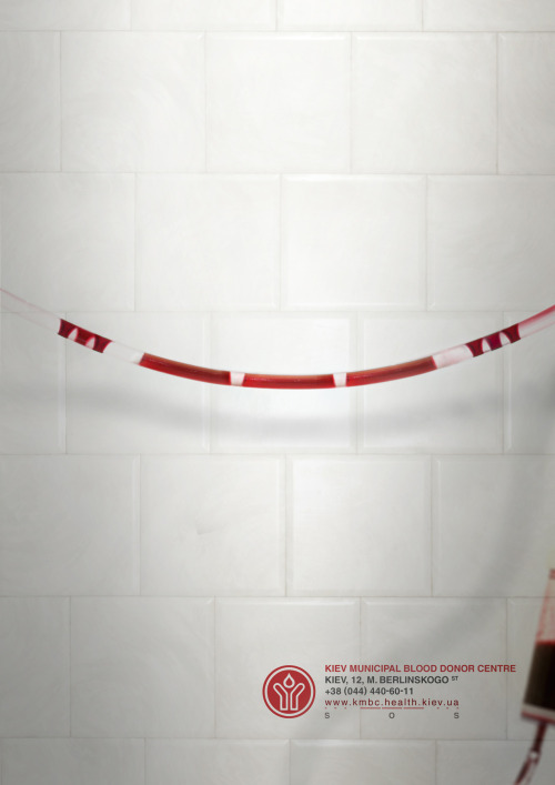 Print ad for Kiev Municipal Blood Donor Centre by AmVitamin Kiev