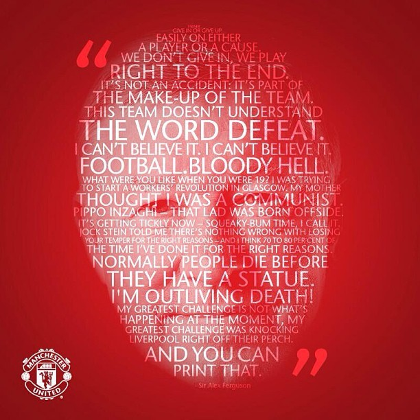 Sir Alex Ferguson: In his own words. #thankyousiralex