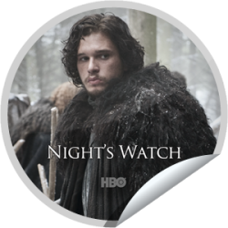I just unlocked the Game of Thrones: Night's Watch sticker on GetGlue                      25282 others have also unlocked the Game of Thrones: Night's Watch sticker on GetGlue.com                  Send a raven and alert your friends, you're a fan of Game of Thrones. Share this one proudly. It's from our friends at HBO.