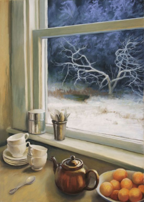 "Deborah DeWit Winter Mornings Pastel, 21"" x  30"" 2012"