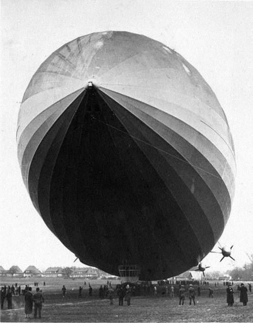 thats-the-way-it-was:  March 4, 1936: First flight of LZ 129 Hindenburg Five years after construction began in 1931, the Hindenburg made its maiden test flight from the Zeppelin dockyards at Friedrichshafen on March 4, 1936, with 87 passengers and crew aboard. Photo: Fox Photo/Getty