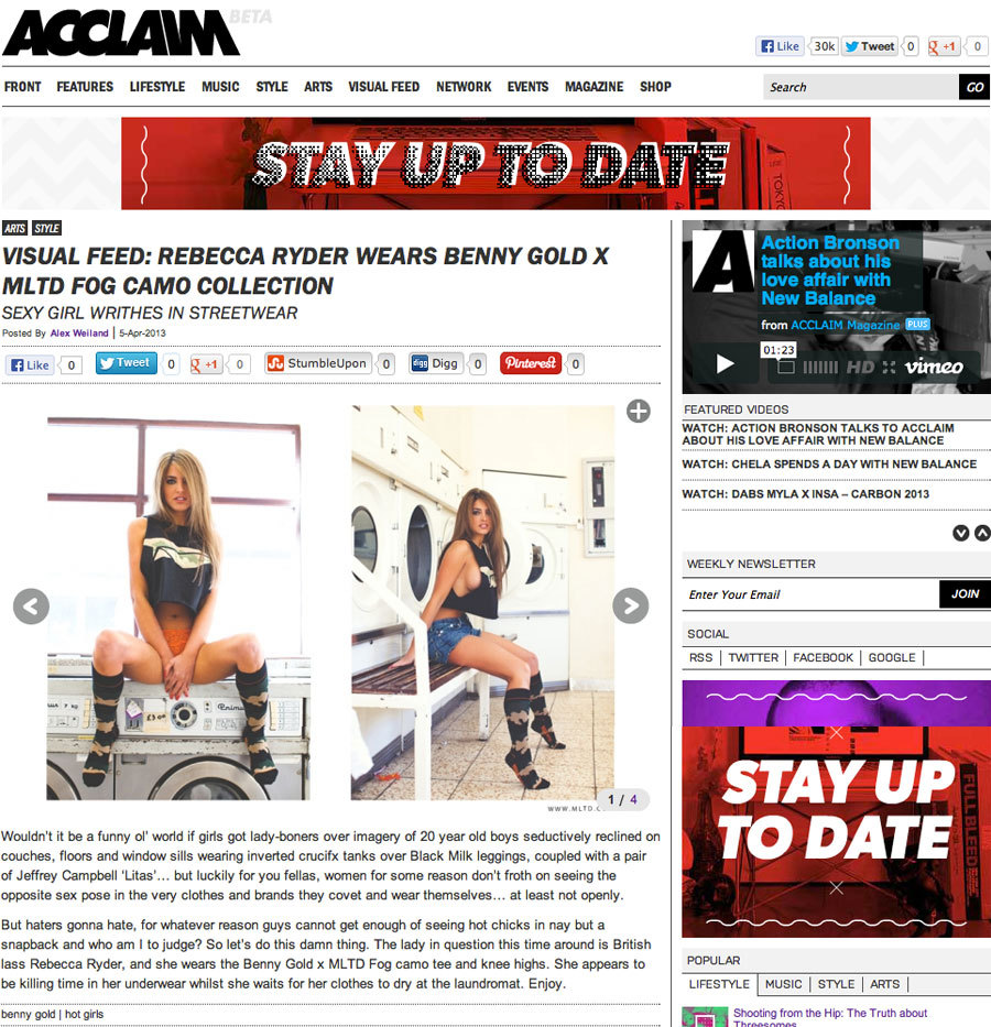 Thanks Acclaim Magazine for the post. Benny Gold x MLTD is available here in very limited quantities.