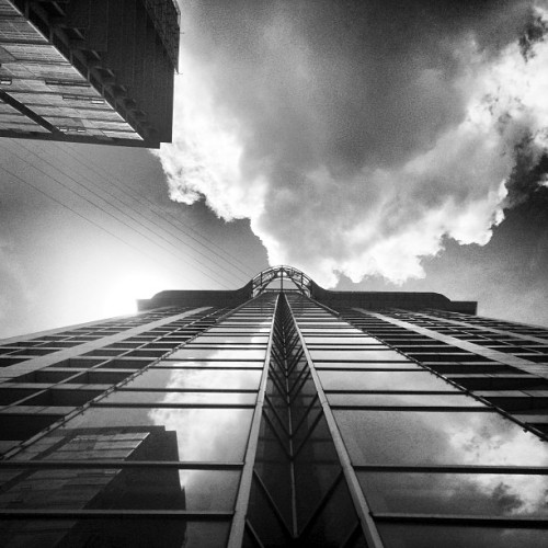 Aim high and reach for the skies.   #blackandwhite #building #highrise #igers #igerscebu #igersdaily #igersphilippines #travelwithjo #skies #sky #clouds #crownregency #tallbuilding #aimhigh #reachfortheskies #amazing #coolphotos #cool #traveler #thetraveler (at Crown Regency Hotel & Towers)