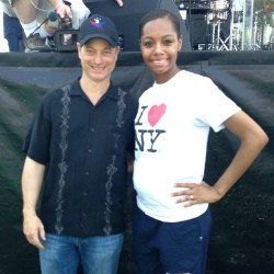 Me & Gary Sinise (LT Dan from Forrest Gump or Mac From CSI:NY). 👌 My Fave Guy. (Check My Belly lol Bumming It Out) ❤