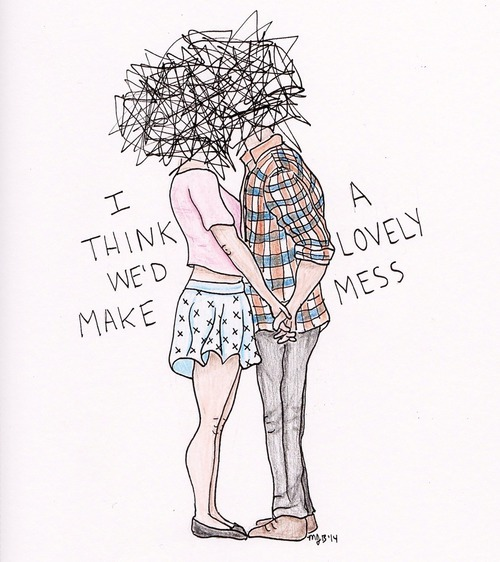 Love Drawing Art Couple Cute Tumblr Beautiful Hipster Grunge Draw