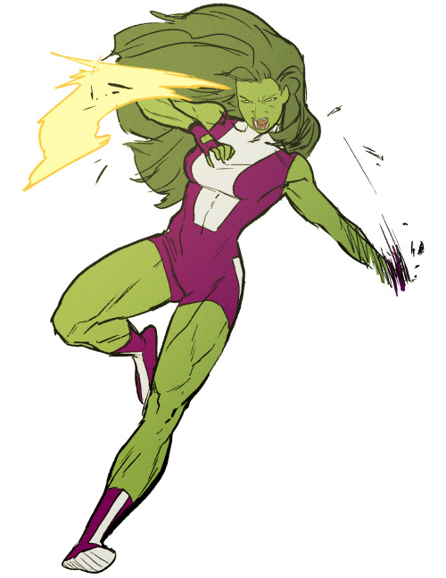 kristaferanka:  she-hulk sketch. just needed a break from work.