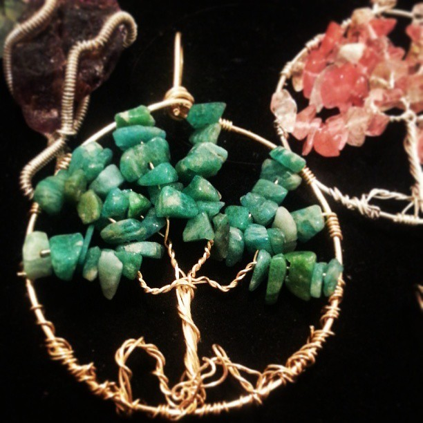 Brass Tree of Life #Amazonite #treeoflife #stone #jewelry #wirewrap #handmadeoasis