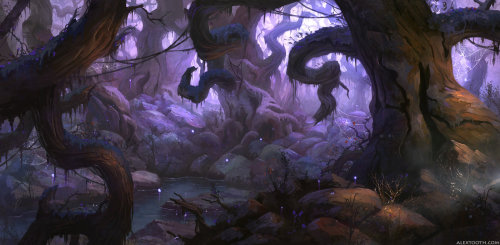 """Forest"", beautiful illustration by Alex Tooth. An extra-large/wallpaper version is available HERE."