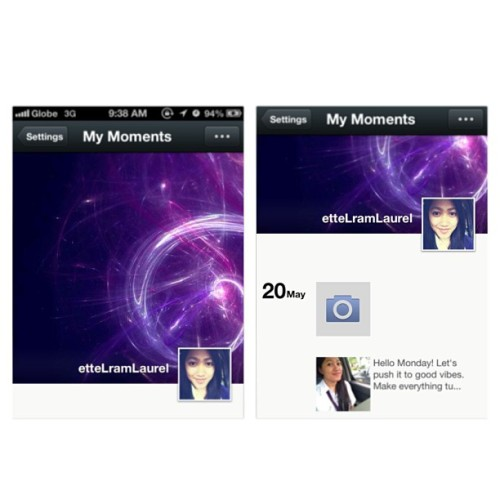 We love. We share. We chat. ✌😁 #WeChat #social #purple
