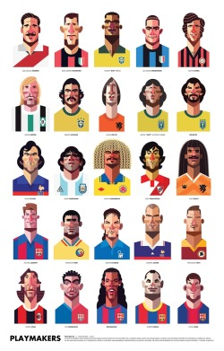 old-school-panini:  The Playmakers by Daniel NYARI