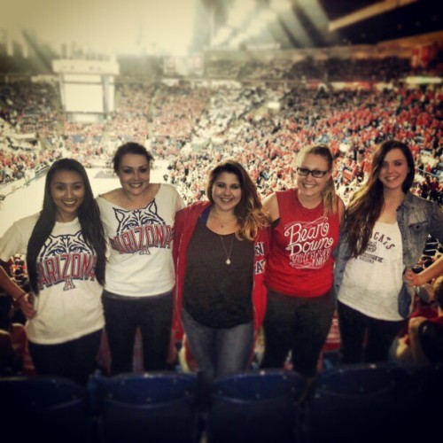 The fab five (;♥ #UofA #Wildcats #Basketball #Stanford #bestfriends #zonazoo #pactwelve #winning #rank #seventh