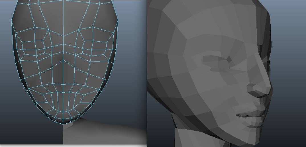 slowly making progress on my new character model! Faces in the beginning stages always look like freaky aliens. I'm following along with this tutorial (using my own art as the reference) if any one is curious: http://www.digitaltutors.com/tutorial/3273-Creating-Digital-Humans-1-Volume-and-Muscle