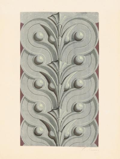 #carl_sievers, #architectural_drawing, #architecture, #decorative, #19th_century, #architekturzeichnung
