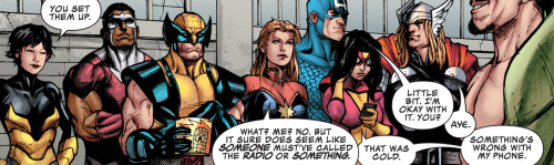 the-gallifreyan-detective:  why-i-love-comics:  Avengers Assemble #11  written by Kelly Sue DeConnickart by Stefano Caselli   these are some of the greatest panels in Marvel history