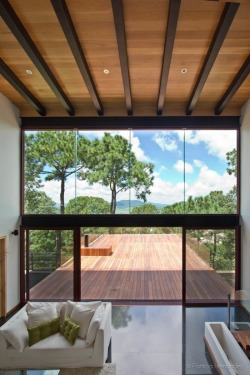 justthedesign:  Living Room At The Mazamitla Forest House by Espacio Multicultural de Arquitectura Photography By Patricia Hernandez