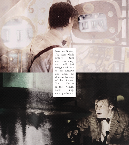 The Doctor in the TARDIS. Next stop: everywhere.