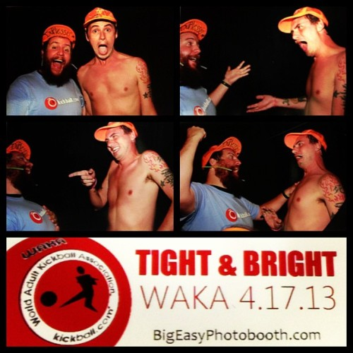 @seanstalker #neworleans #waka #kickball #tighandbright #photobooth