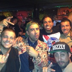 Good times in BARCELONA, celebrating SKATEBOARDING! @shecks @erickoston @selectsean @luanomatriz and myself haha #skatelife #skatebarcelona #STREETLEAGUE #xgames #SLSatXGAMES