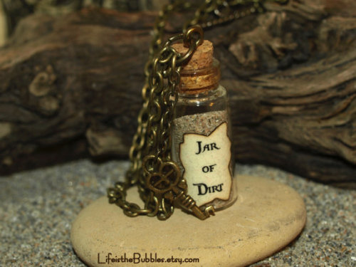 Necklace- Jar of Dirt and Key