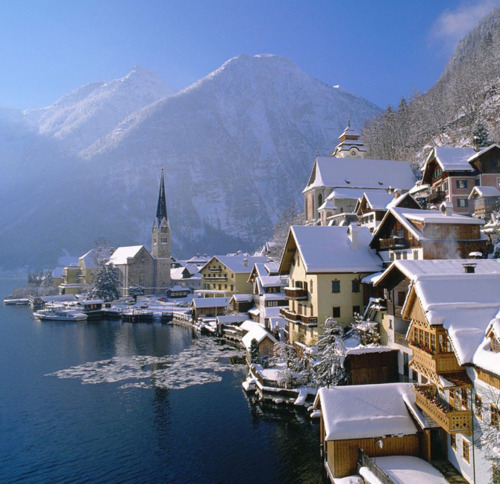 Winter's Day, Hallstatt, Austria photo via desolated