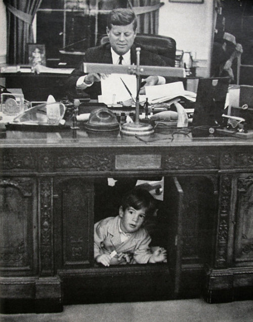 12yassevinci:  kennedy and his son