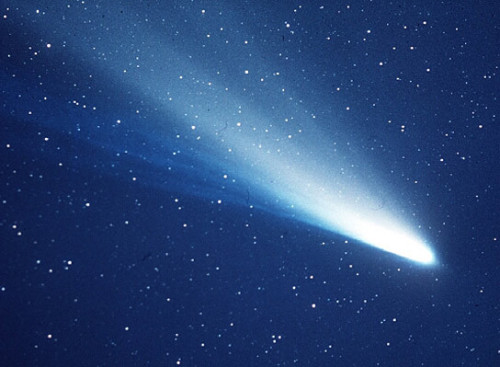 A once in a lifetime event visible every 75-76 years, Halleys comet returned in 1986. Halley is the only short-period comet that is clearly visible to the naked eye from Earth. It has been documented since 240 BC.