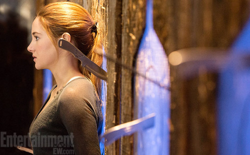 Divergent's exclusive first look: Shailene Woodley as Tris Prior during the knives' scene.