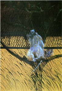 narcissusaredaffodils:  Study of a Baboon, 1953 oil on canvas, 198 x 137 cmMuseum of Modern Art, New York