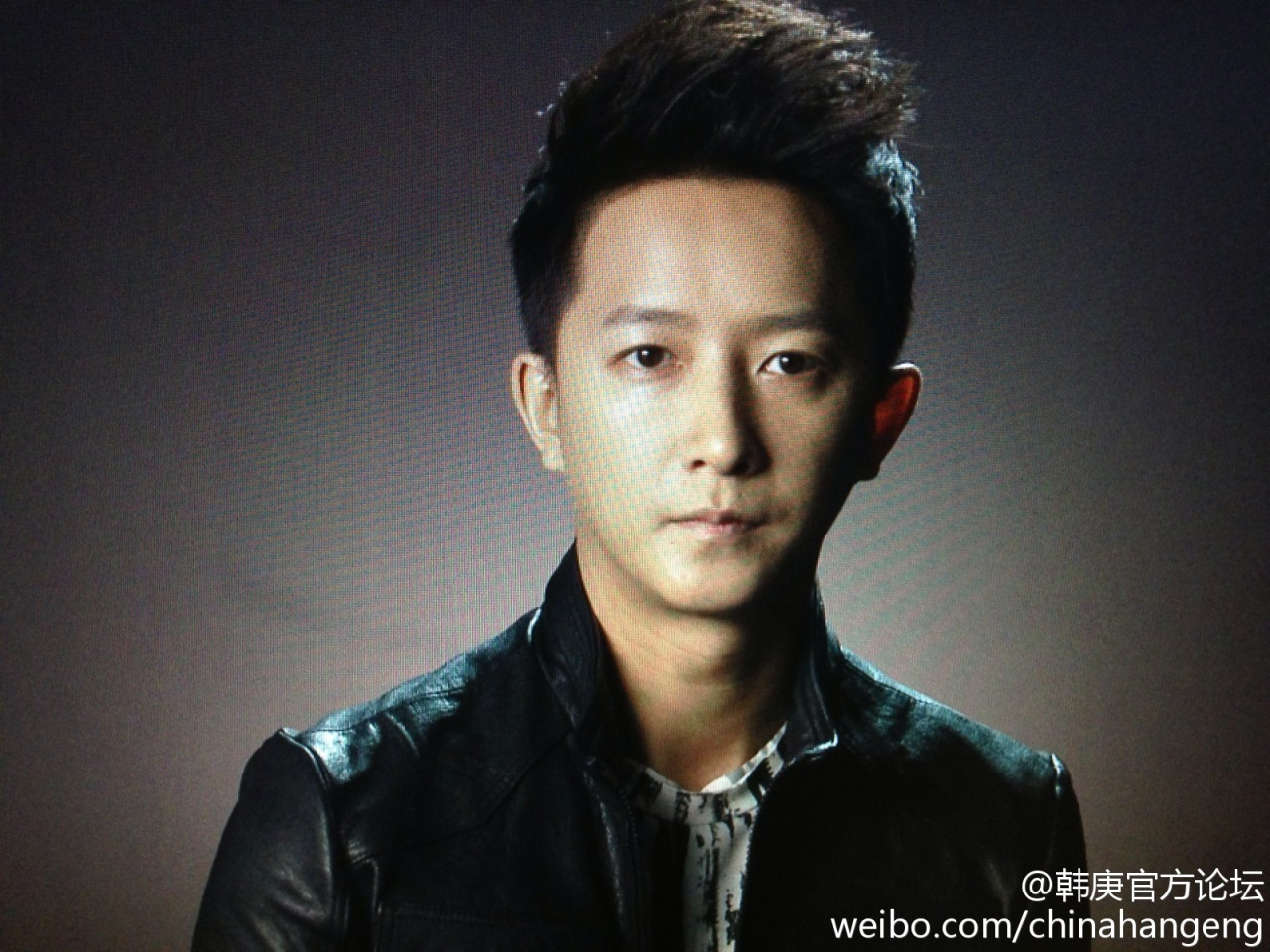 gengbaonet:  Han Geng recording for MTV EXIT | cr: chinahangeng  Han Geng recorded public service announcements for MTV EXIT's anti-trafficking campaign.