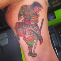 Bad ass little traditional Samurai i did the other day #samurai  #japanesetattoo #Japanese #tattoo