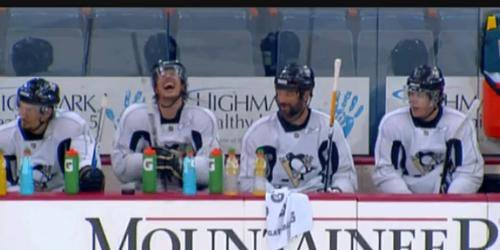 """Sid : How do you say 5 on 3 in Russian ?  Malkin : 5 on 3 !""  LMAO !"