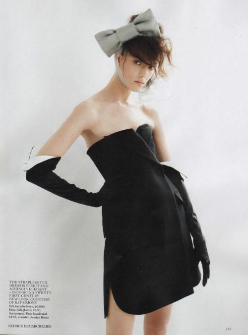 """The New Modern"" Kati Nescher by Patrick Demarchelier for Vogue UK February 2013"