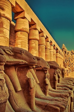 Ram-headed Sphinxes, Luxor Karnak Temple, Egypt