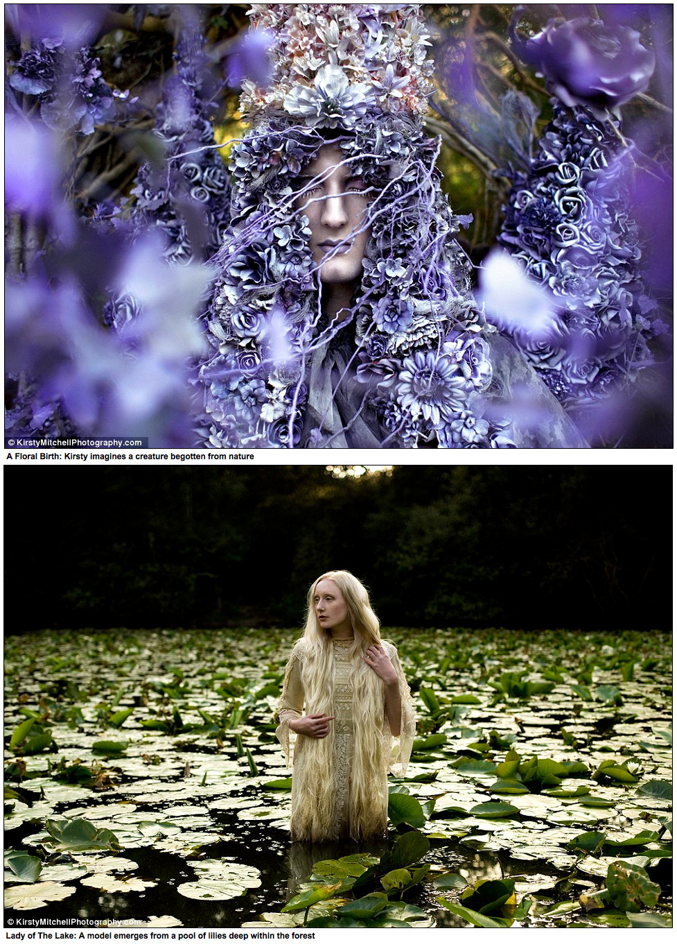 lagertha-lodbrok:  xharox:  kamdensl:  thestarlighthotel:  Kirsty Mitchell's late mother Maureen was an English teacher who spent her life inspiring generations of children with imaginative stories and plays. Following Maureen's death from a brain tumour in 2008, Kirsty channelled her grief into her passion for photography.  She retreated behind the lens of her camera and created Wonderland, an ethereal fantasy world. The photographic series began as a small summer project but grew into an inspirational creative journey.  'Real life became a difficult place to deal with, and I found myself retreating further into an alternative existence through the portal of my camera,' said the artist. (read the rest here).   These photos are absolutely stunning.  A perfect way to honor the memory of her mother.  I bet she'd love these photos.   So breath taking!   holy shit this is so moving
