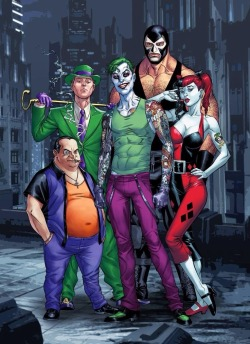 the joker joker harley quinn dc comics riddler bane The Riddler edward nygma Batman Villains the penguin oswald cobblepot joker and harley Batman Rogues harley quinn art dc supervillains