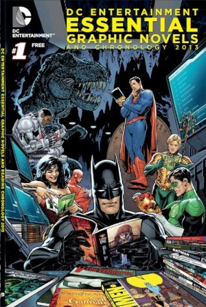 "DC Comics' essential graphic novel backlist and chronology, available late May 2013. ""A detailed listing of the publisher's 25 most acclaimed graphic novels (""The Essential 25""), including Watchmen by Alan Moore and Dave Gibbons and Batman Year One by Frank Miller and David Maazacchelli; the trade paperbacks collecting the recent New 52 relaunch; graphic novels from DC's Vertigo imprint; and book series based on major characters such as Batman, Superman, and Wonder Woman."" I think this is a great idea! (though I would've preferred it to be out before FCBD…)"