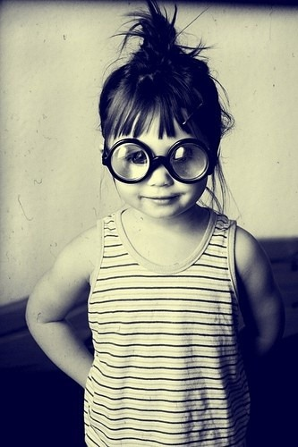 underthecarolinamoon:  Top knot—toddler style.