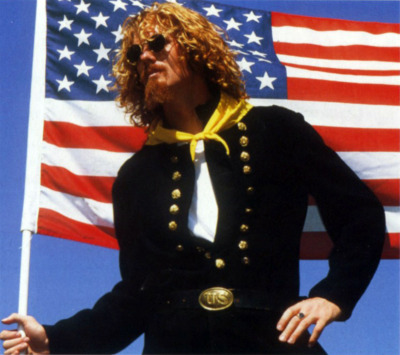 Not so bored with the USA. Yankee soldier Alexis Lalas. (1994).